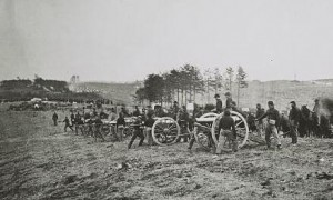 1st CT Heavy at Fredericksburg (Matthew Brady photo Library of Congress collection)