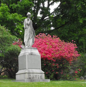 Cedar Hill spring Davis monument