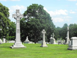 Mt St Benedict cemetery view Jul 6 2013
