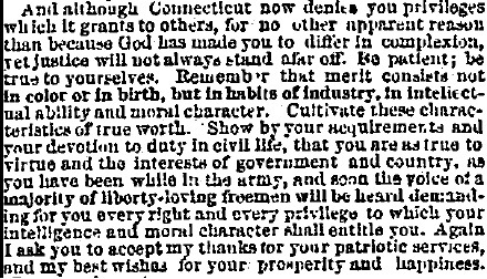 1865 Buckinghams address to returning 29th Regiment