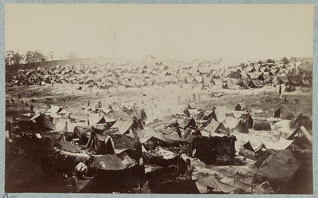 Andersonville Prison circa 1865 (Library of Congress photograph)