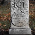 Grave monument Lt. Dewey, Zion Hill Cemetery, Hartford